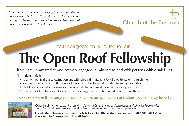 Open Roof Fellowship. Click link below for plain text.