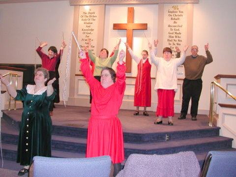 Persons with developmental disabilities lead worship