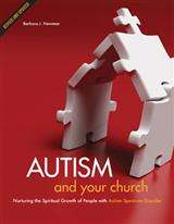 Cover of Autism and Your Church shows church shape built out of jigsaw puzzle pieces